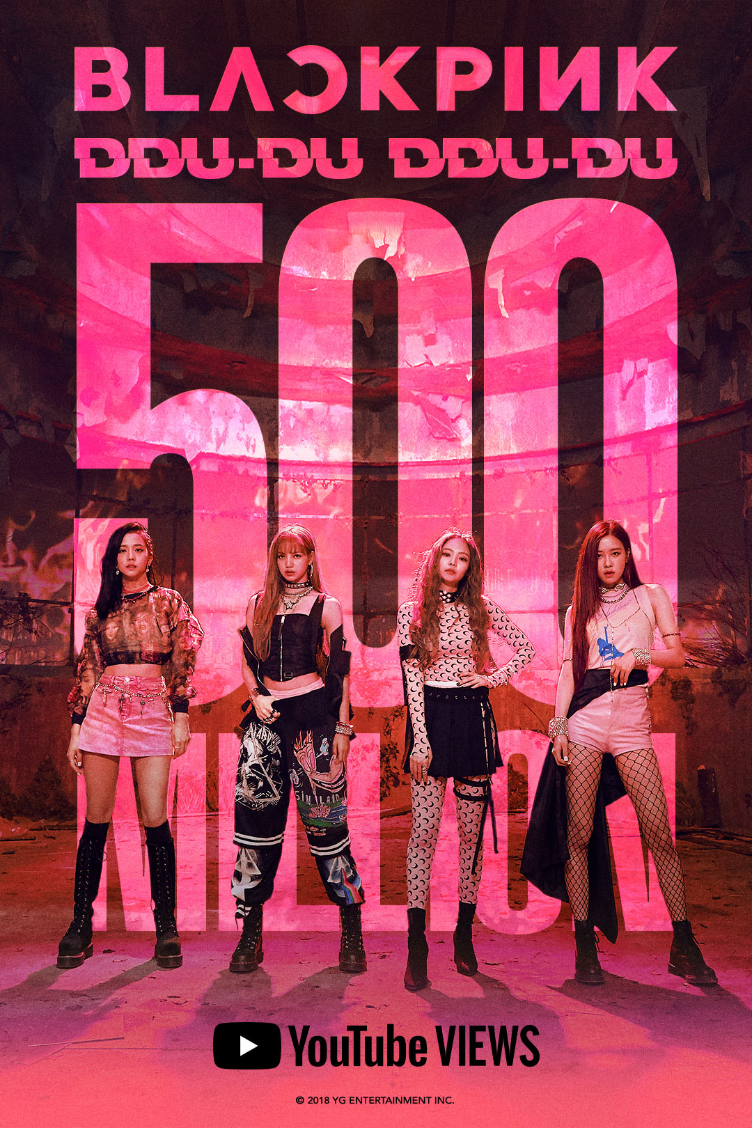 181125 BLACKPINK - 'DDU-DU DDU-DU' MV HITS 500 MILLION VIEWS