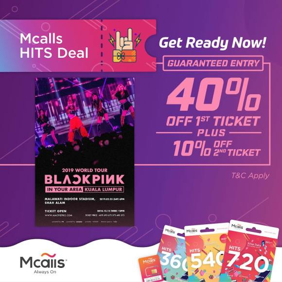 190126 BLACKPINK 2019 TOUR [IN YOUR AREA] KUALA LUMPUR DISCOUNTS EVENT