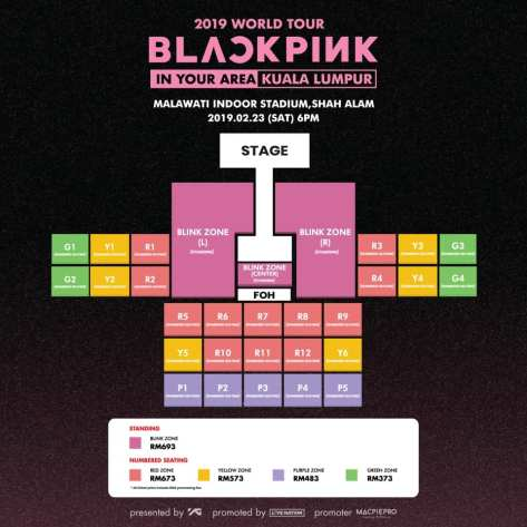 190126 BLACKPINK 2019 TOUR [IN YOUR AREA] KUALA LUMPUR INFO
