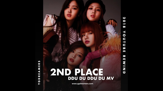[NEWS] 181207 YouTube Reveals Top 10 Most Popular Music Videos In Korea From 2018, BLACKPINK's DDU-DU DDU-DU Takes 2nd Place