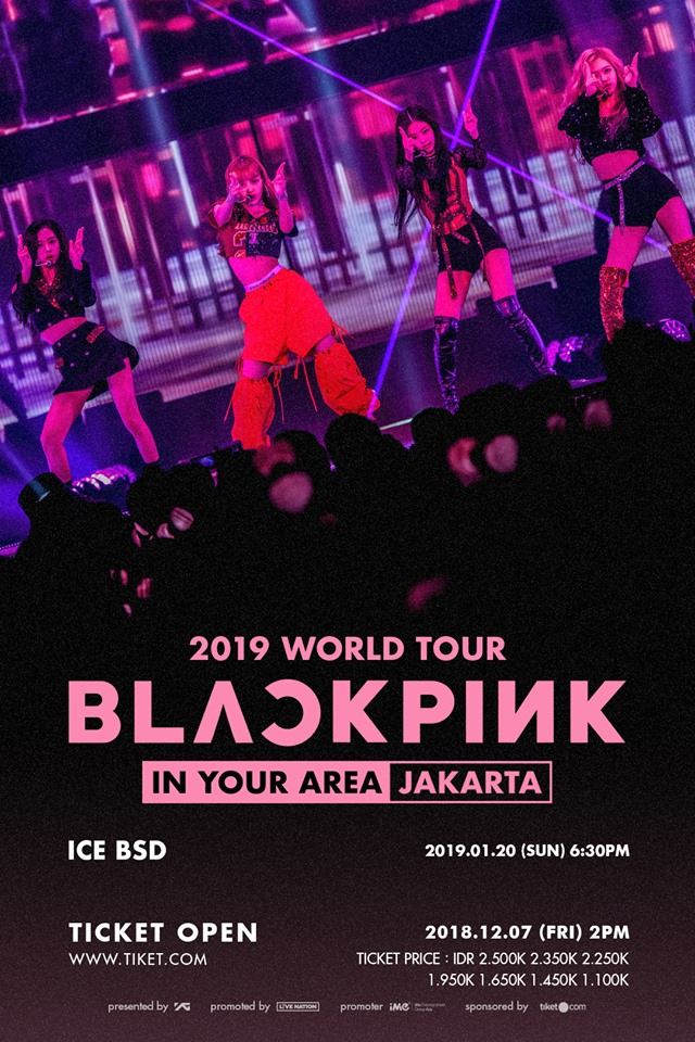190120 BLACKPINK 2019 TOUR [IN YOUR AREA] JAKARTA TICKETING